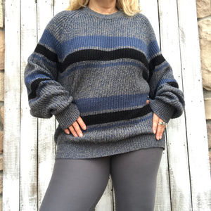 Oversized Cable Knit Cozy Grandpa Sweater